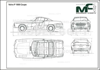 Volvo P 1800 Coupe - 2D drawing (blueprints)