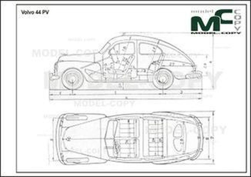 Volvo 44 PV - 2D drawing (blueprints)