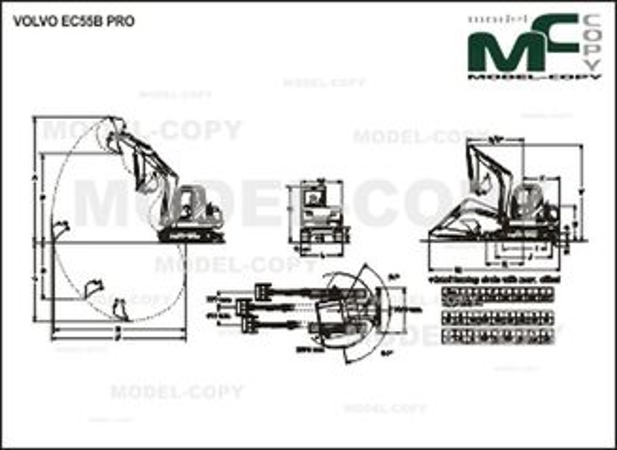 Volvo EC55B PRO - Disegno 2D