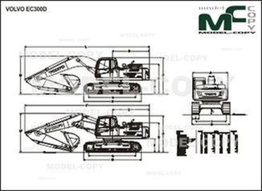 Volvo EC300D - drawing