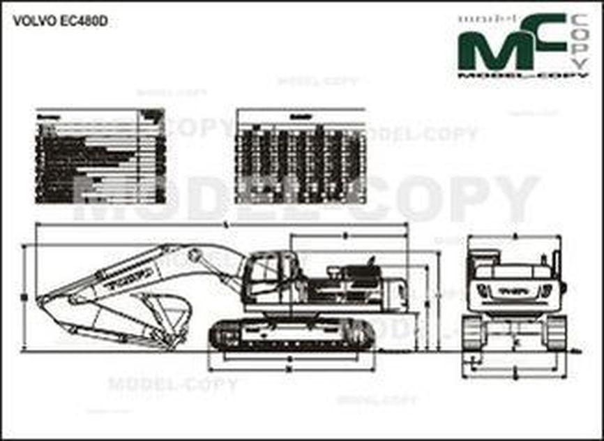 Volvo EC480D - drawing