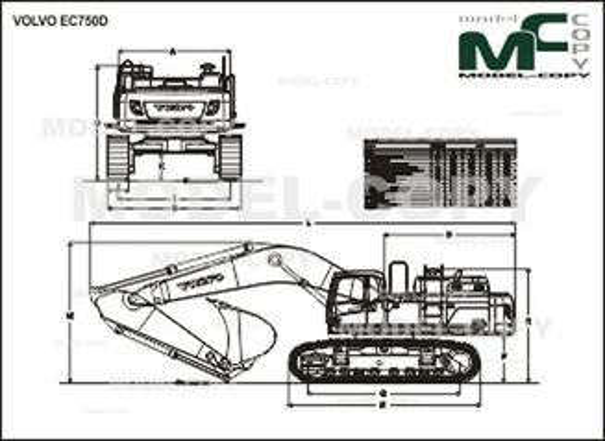 Volvo EC750D - drawing