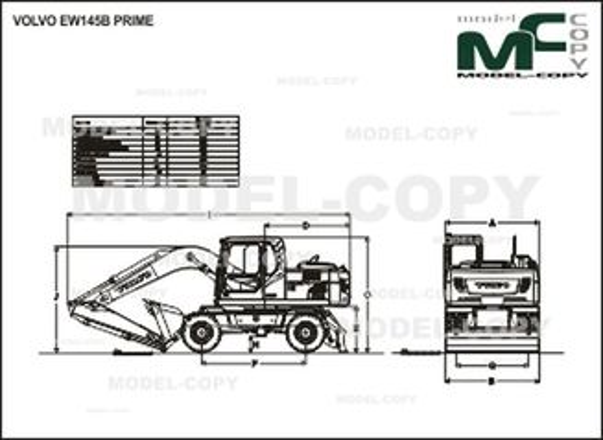 Volvo EW145B PRIME - drawing