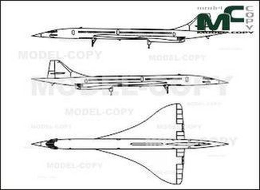 Aerospatiale BAC Concorde - drawing