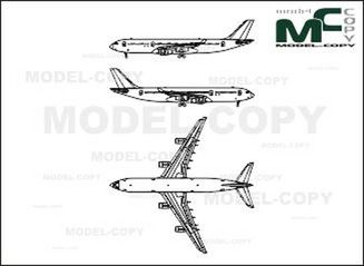 Airbus A340 - drawing