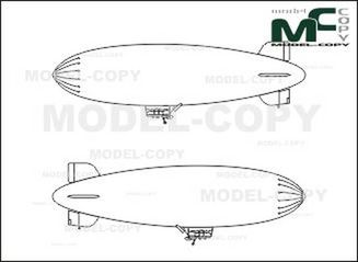 "Airship WDL 1a ""Blimp"" - drawing"