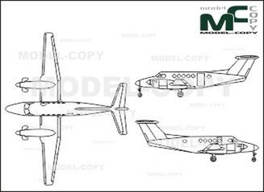 Beech King Air B 200 - drawing