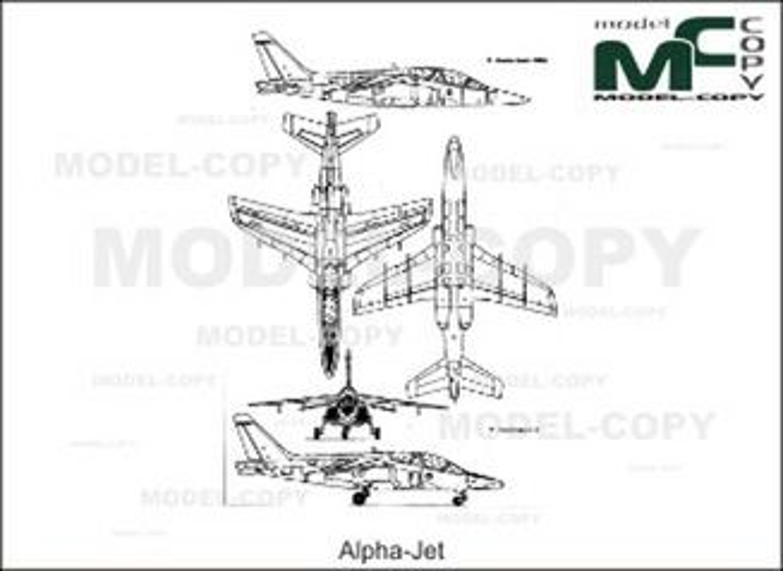 Alpha-Jet - drawing