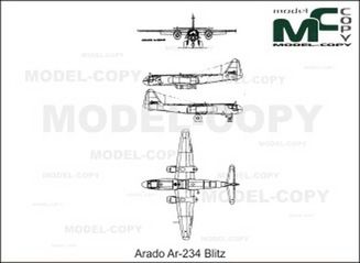 Arado Ar-234 Blitz - drawing