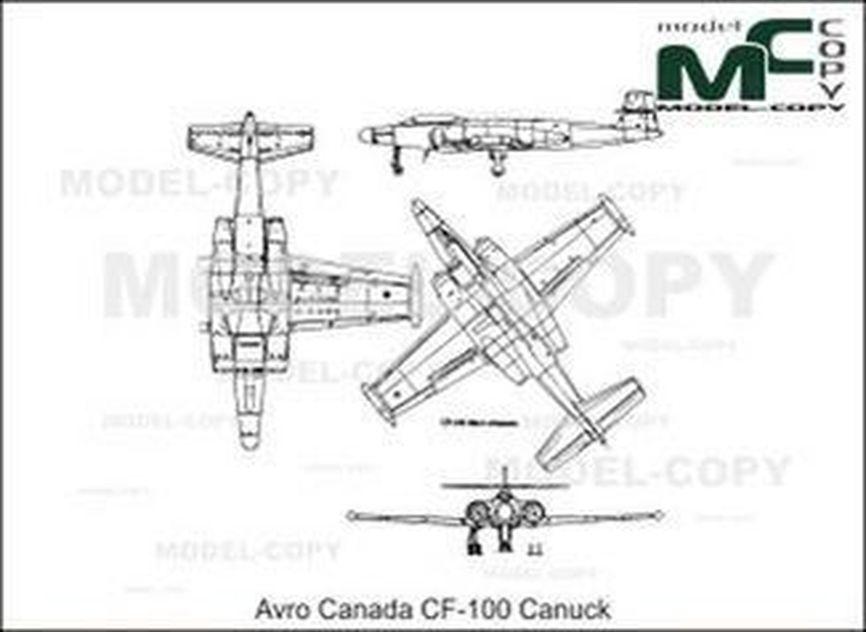 Avro Canada CF-100 Canuck - drawing