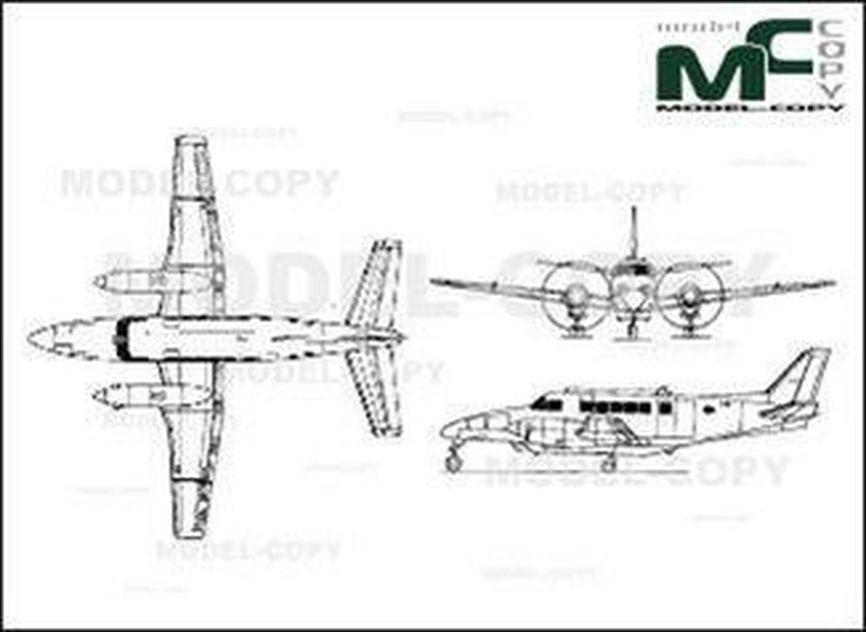 Beechcraft 99A - drawing
