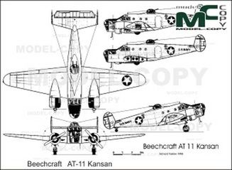 Beechcraft   AT-11 Kansan - drawing