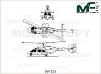 Bell 222 - drawing