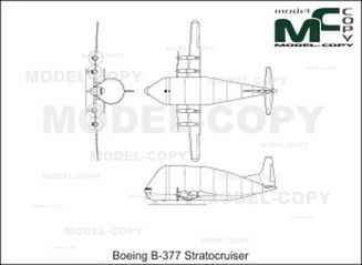 Boeing B-377 Stratocruiser - 2D drawing (blueprints)