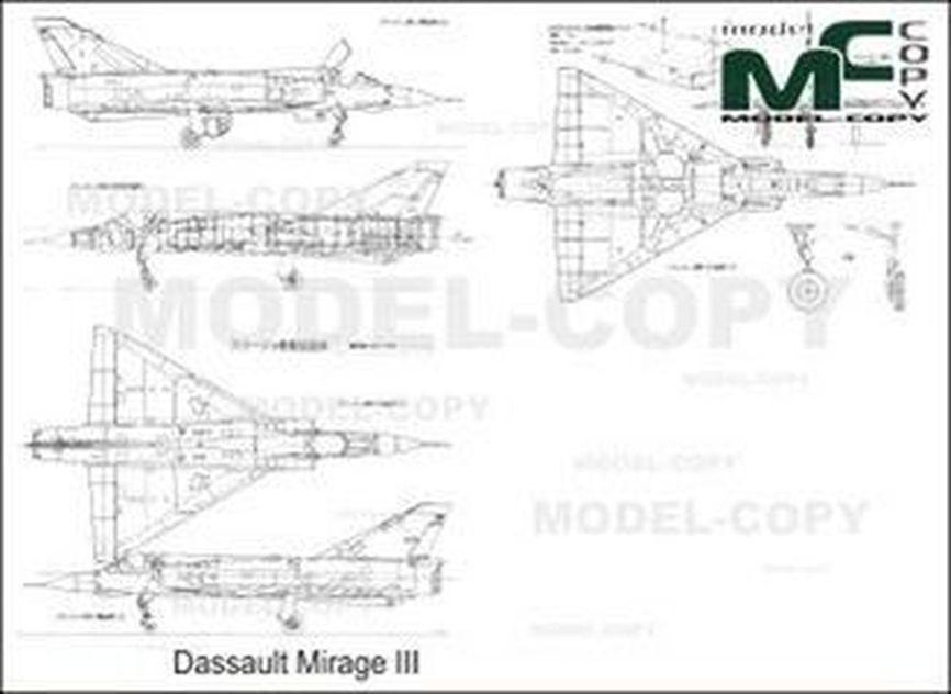 dassault mirage iii - drawing