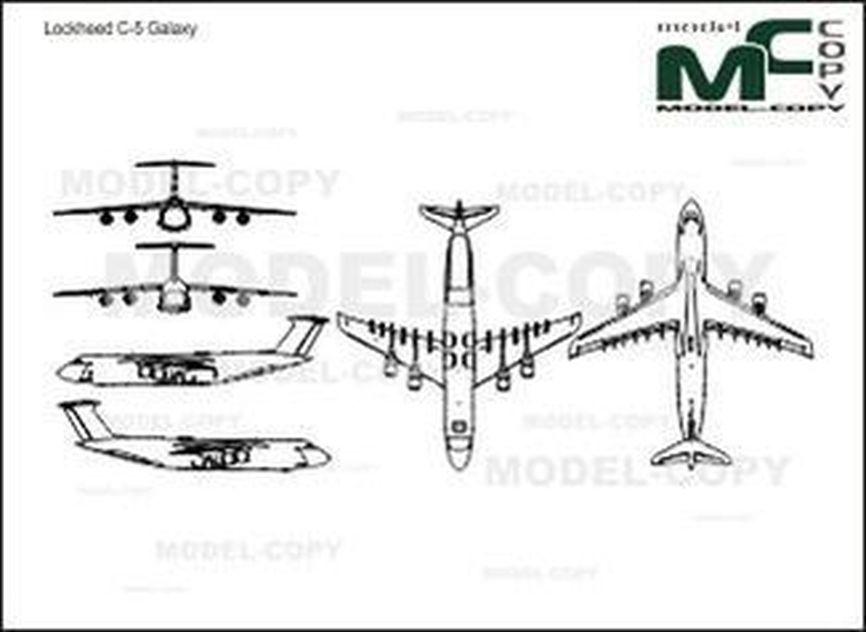 Lockheed C-5 Galaxy - 2D drawing (blueprints)