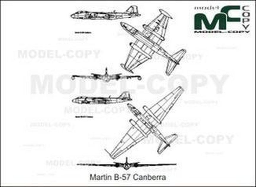 Martin RB-57D Canberra - 2D drawing (blueprints)