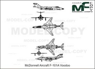 McDonnell Aircraft F-101A Voodoo - drawing