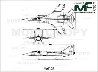 MiG-25 - 2D drawing (blueprints)