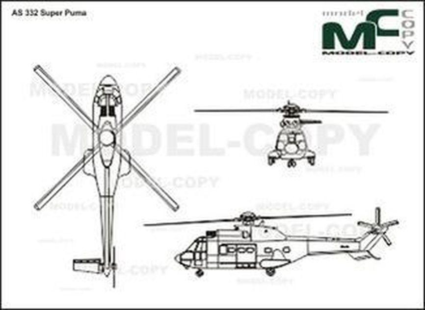 AS 332 Super Puma - drawing