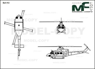 Bell 412 - drawing