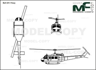 Bell UH-1 Huey - drawing