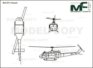 Bell UH-1 Iroquois - drawing