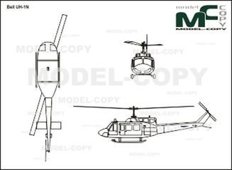 Bell UH-1N - drawing