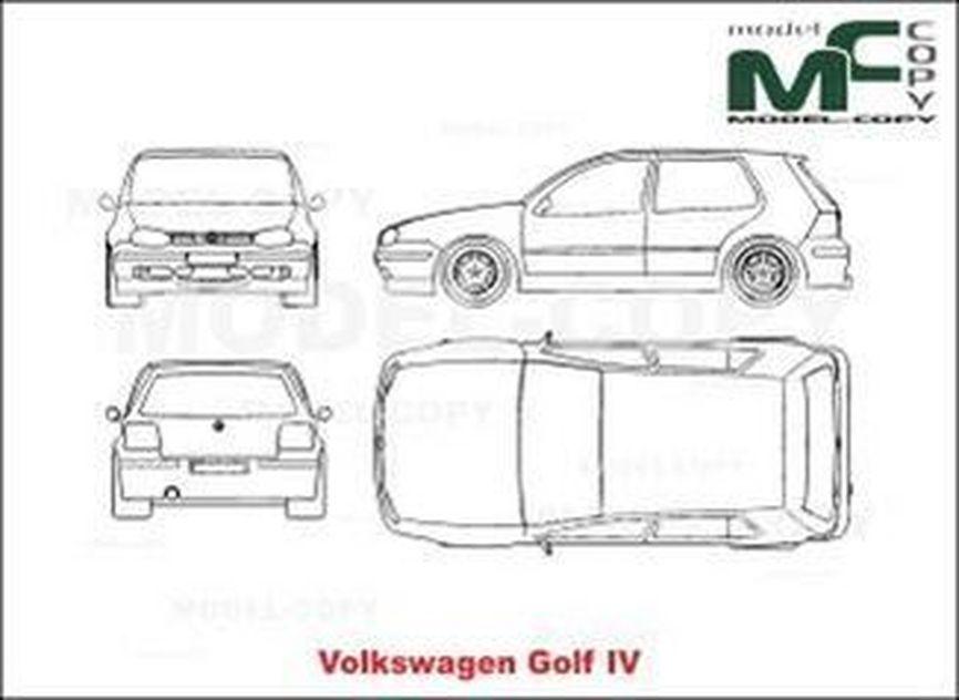 volkswagen golf 4 desenho 22563 model copy