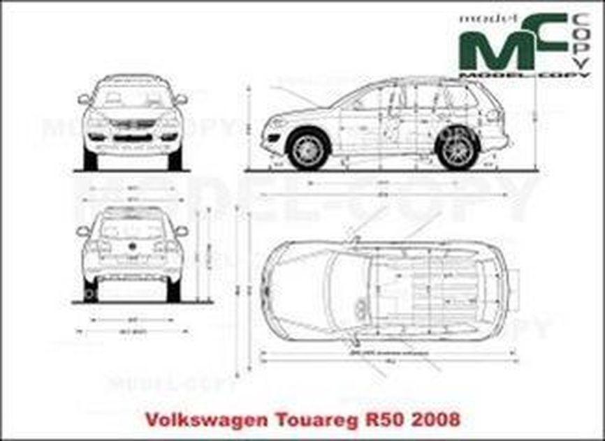 Volkswagen Touareg R50 (2008) - drawing