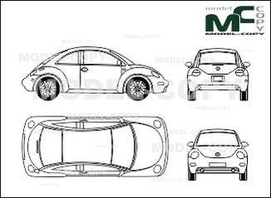 volkswagen beetle - dibujo - 28756