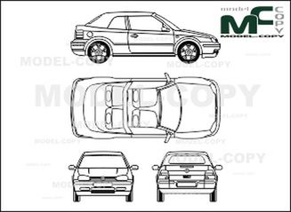 Volkswagen Golf IV Cabriolet - 2D drawing (blueprints)