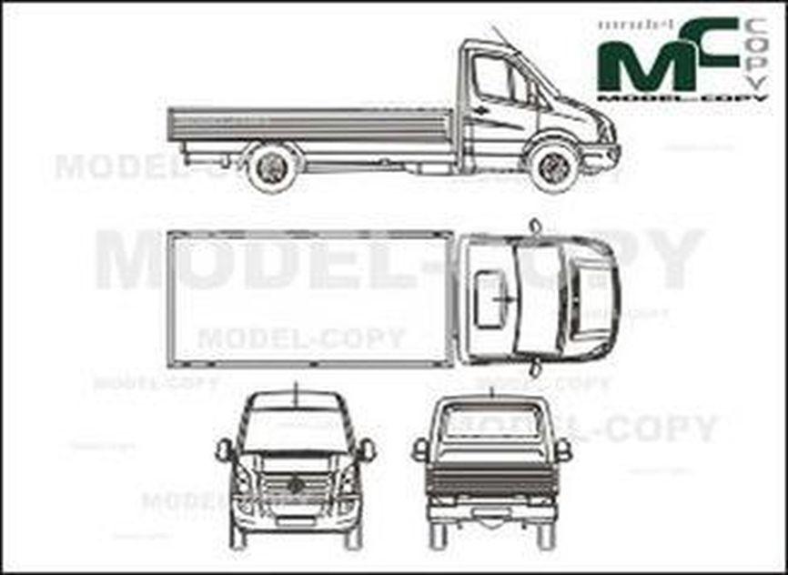 Volkswagen Crafter 35 bunk, long (2006) - drawing