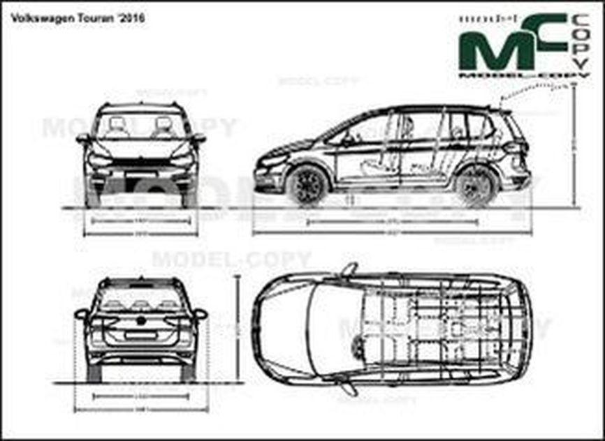 Volkswagen Touran '2016 - drawing