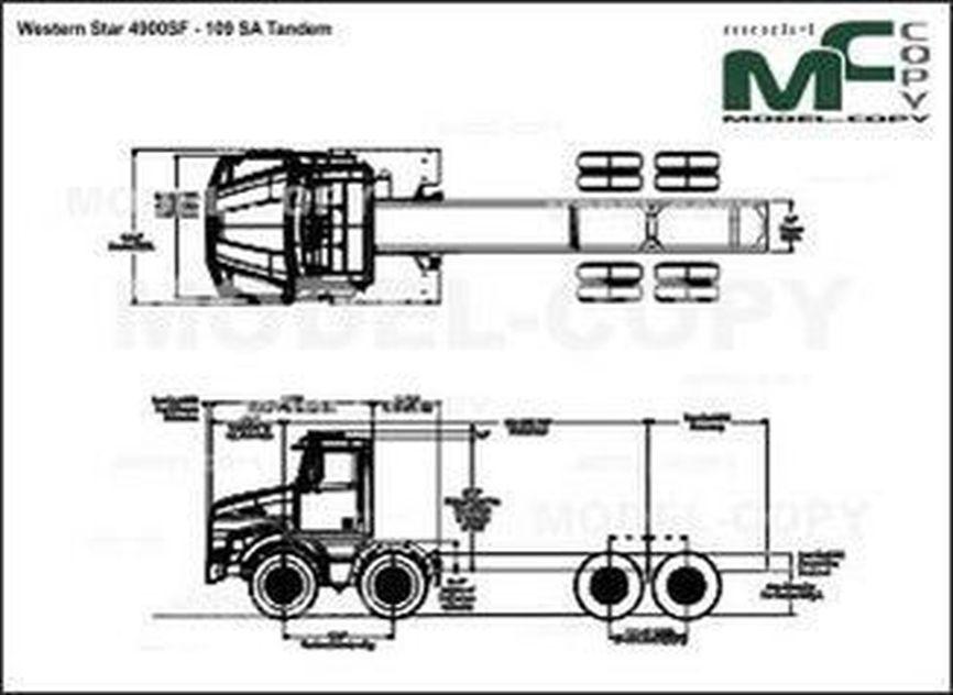 Western Star 4900SF - 109 SA Tandem - drawing