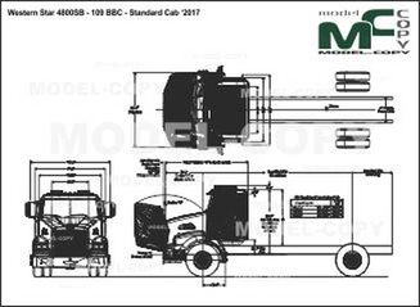 Western Star 4800SB - 109 BBC - Standard Cab '2017 - drawing