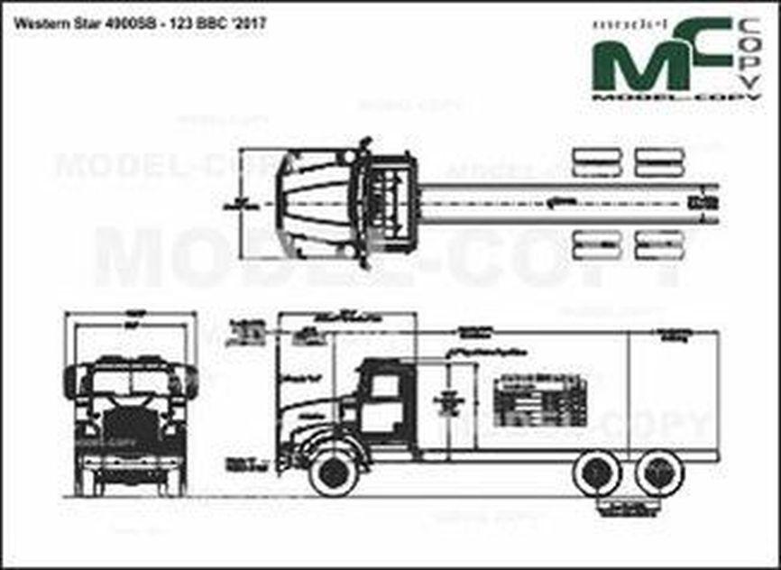 Western Star 4900SB - 123 BBC '2017 - drawing
