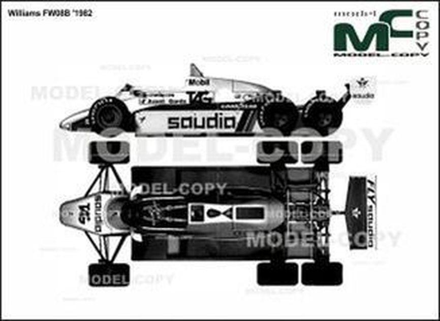 Williams FW08B '1982 - 2D drawing (blueprints)