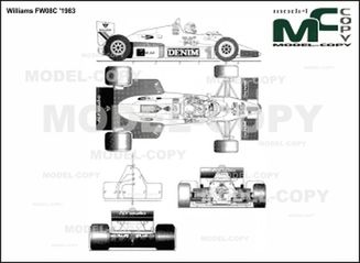 Williams FW08C '1983 - 2D drawing (blueprints)