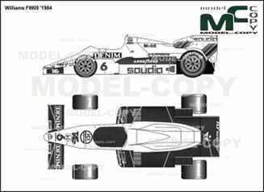 Williams FW09 '1984 - 2D drawing (blueprints)
