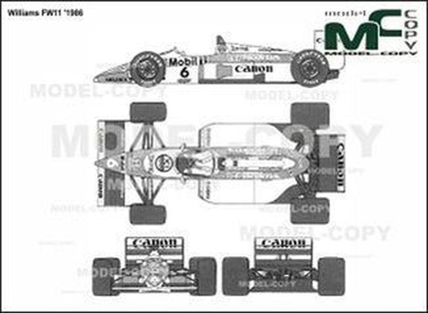 Williams FW11 '1986 - 2D drawing (blueprints)