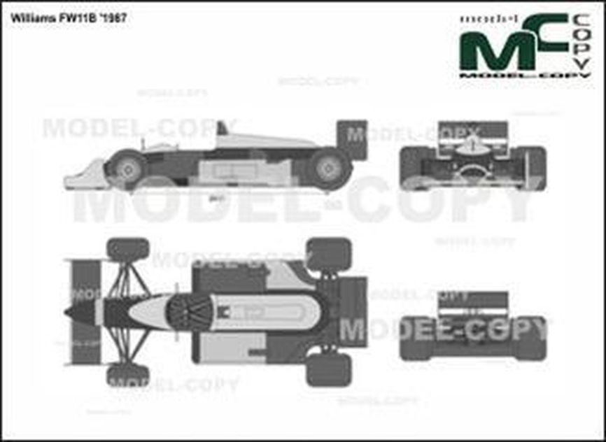 Williams FW11B '1987 - 2D drawing (blueprints)