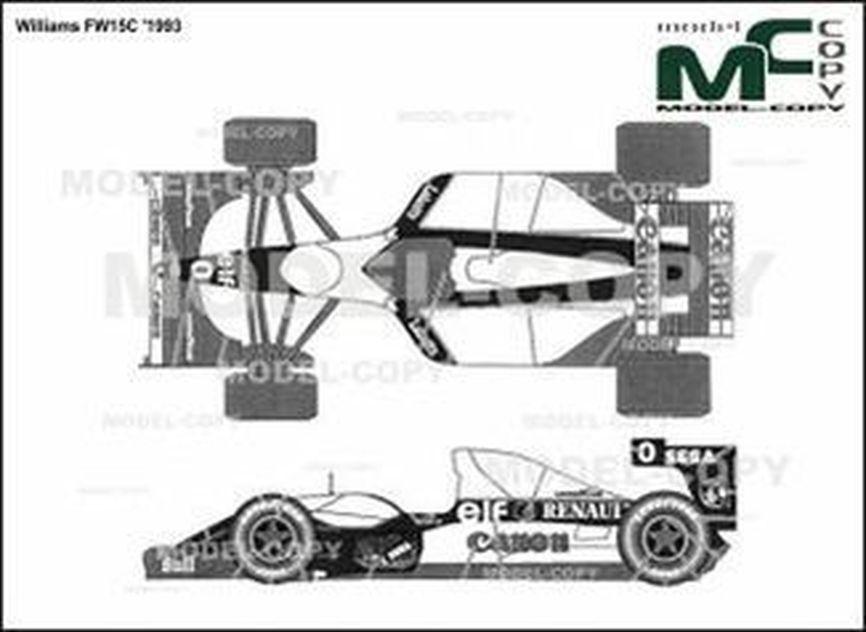 Williams FW15C '1993 - 2D drawing (blueprints)
