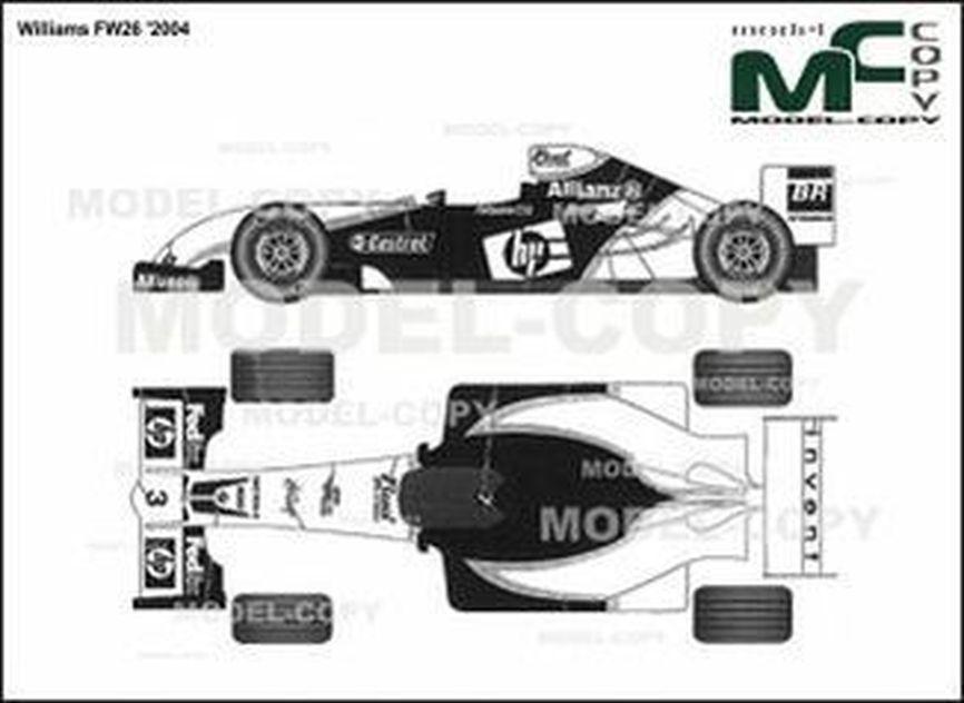 Williams FW26 '2004 - 2D drawing (blueprints)
