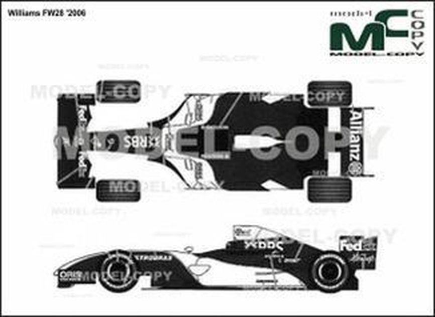 Williams FW28 '2006 - 2D drawing (blueprints)