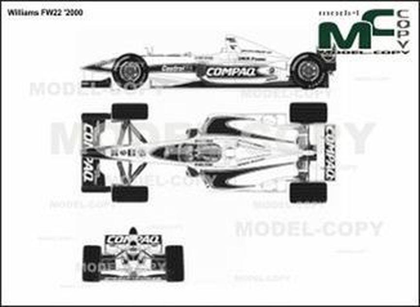 Williams FW22 '2000 - 2D drawing (blueprints)