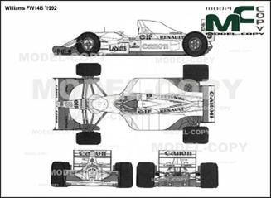 Williams FW14B '1992 - 2D drawing (blueprints)