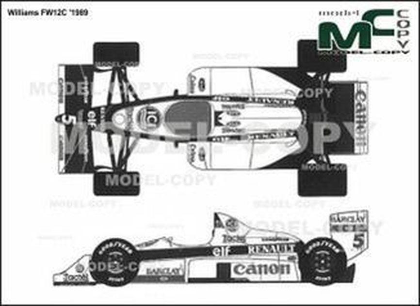 Williams FW12C '1989 - 2D drawing (blueprints)