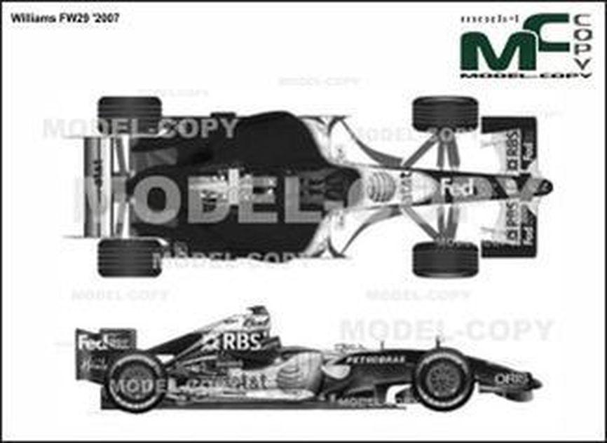 Williams FW29 '2007 - 2D drawing (blueprints)