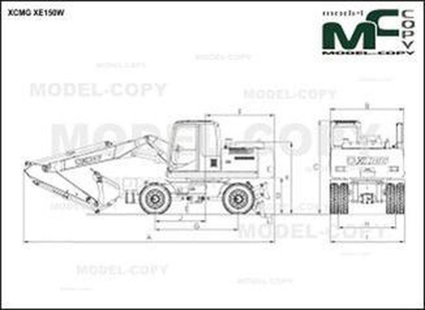 XCMG XE150W - drawing